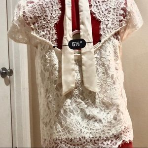 Abercrombie lace tie overtop and cami set